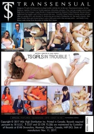TS Girls In Trouble (Chanel Santini, Casey Kisses, Natalie Mars, Aspen Brooks)  [SD] Transsensual