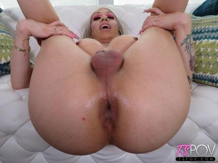 Big Booty Blonde TS Loves Your Cock (Paris Queen)  [SD] TsPov.com