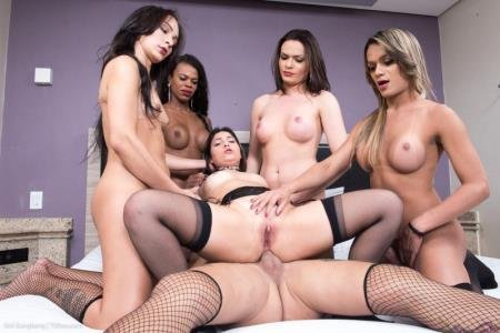 Girl Bred and Fed By 5 Hung Tgirls (Lavinia Magalhaes Hanna Rios, Juliana Leal, Nicolly Pantoja, Lara Machado)  [HD] TSRaw.com