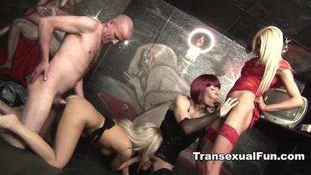 Two Shemales With A Man And A Woman (Zoe Fuckpuppet, Karla Coxx, Jessica)  [HD] Transexualfun.com