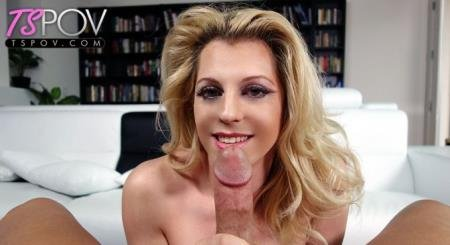 sexy blonde shemale makes a big dick squirt (Tyra Scott)  [FullHD] TsPov.com